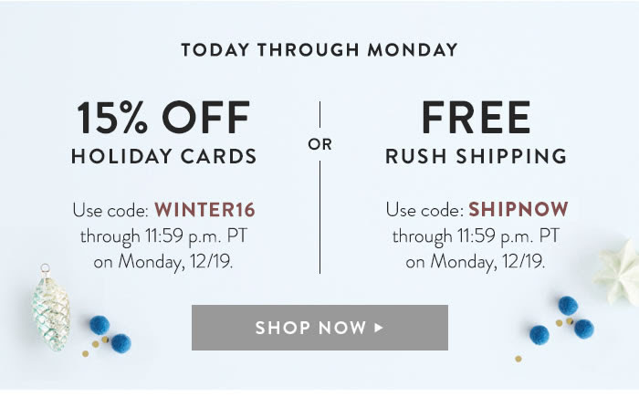 minted holiday card offer